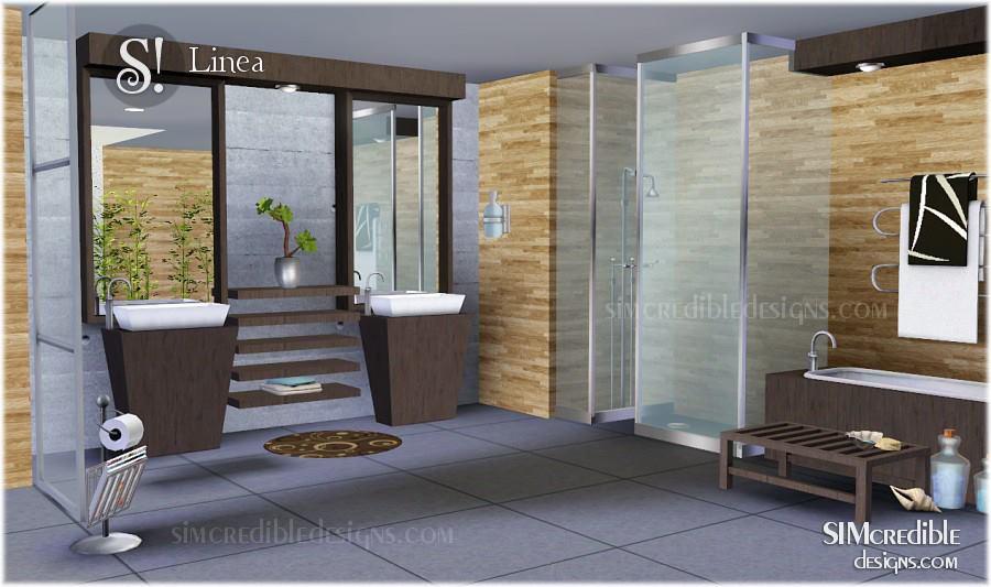 My sims 3 blog linea bathroom set by simcredible designs for Bathroom ideas sims 4