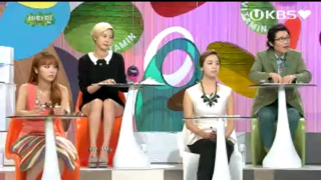 Chicas con minifalda o pantaloncito en la TV coreana