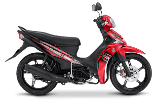 Yamaha Force F1 Injeksi red active merah kombinasi hitam
