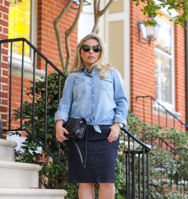 Gap and J Crew Denim on Denim Outfit
