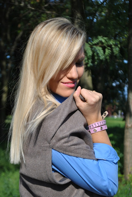 bracciale in cuoio rosa con borchie mariafelicia magno fashion blogger colorblock by felym fashion blog italiani fashion blogger italiane blogger italiane di moda ragazze bionde blonde hair blonde girls blondie blue eyes occhi azzurri fashion bloggers italy influencer italiane