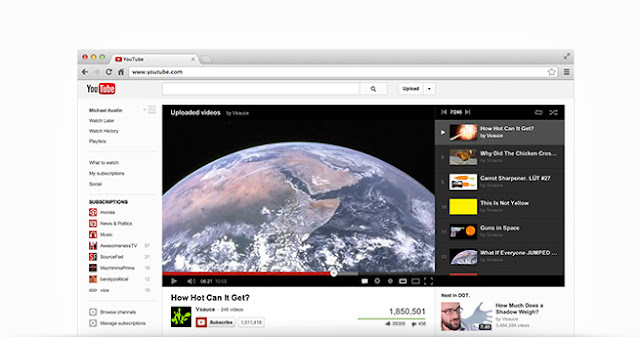 Youtube's new interface