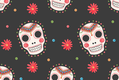 The Sugar Skull Pattern  by Haidi Shabrina