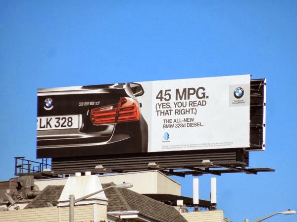 BMW 328d Diesel 45 MPG billboard