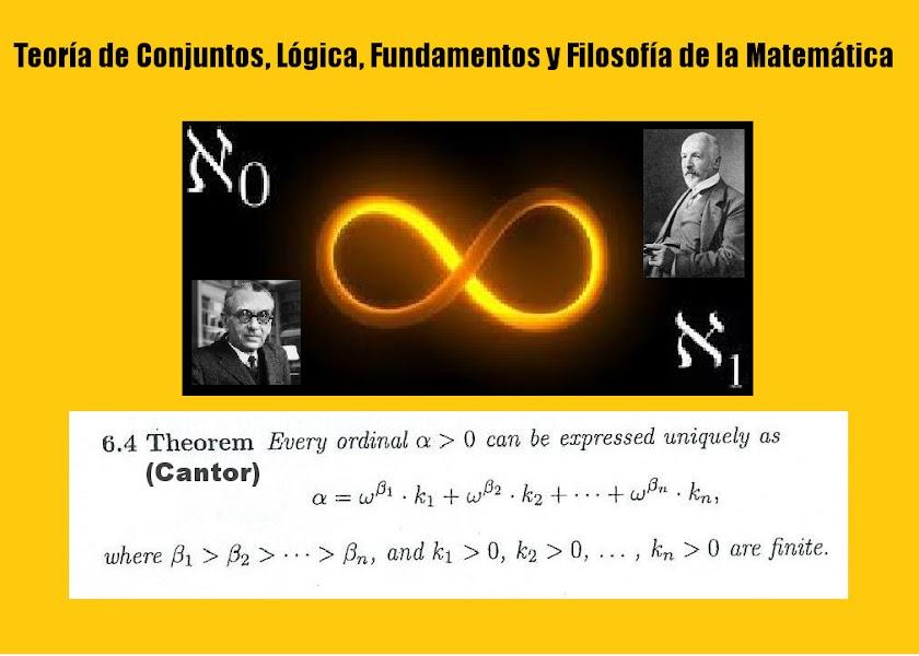 Teoría de Conjuntos, Lógica, Fundamentos y Filosofía de la Matemática