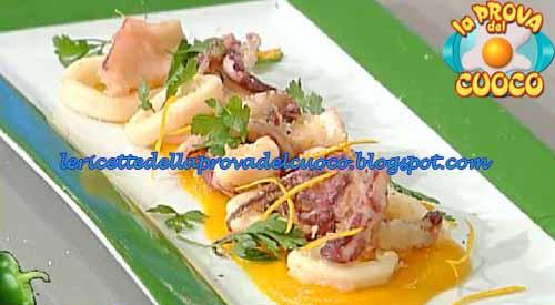 Fritto di calamari con crema di patate all'arancia ricetta Marco Bottega