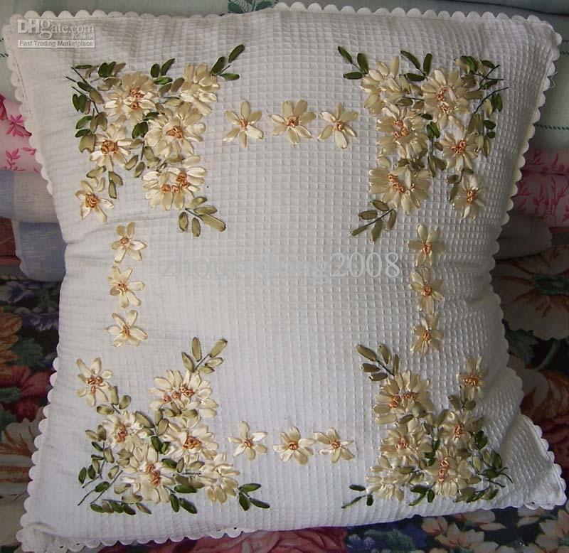 Ribbon embroidery easy craft idea