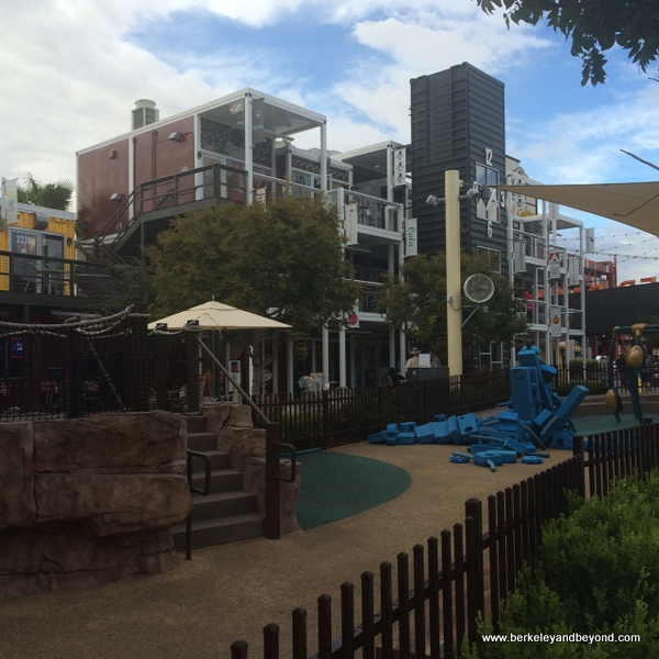 children's playground at Downtown Container Park in Las Vegas, Nevada