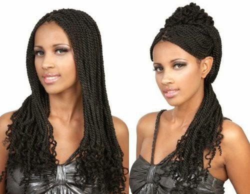 coiffure cheveux longs avec des tresses afro americaine, tendance coiffure 2014