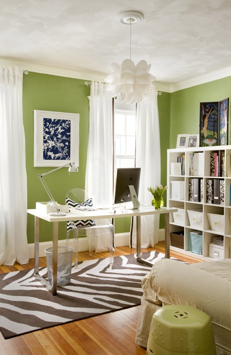 Copy Cat Chic Room Redo Spring Green Home Office