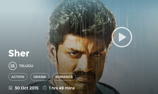 Sher (2015) Telugu Full Movie Watch Online 720P HD