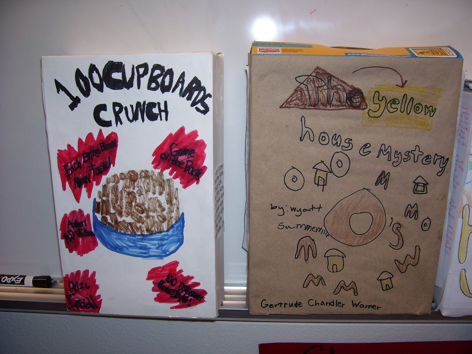 Cereal Box Book Report http://floresclass.blogspot.com/2011/03/cereal-box-book-reports.html
