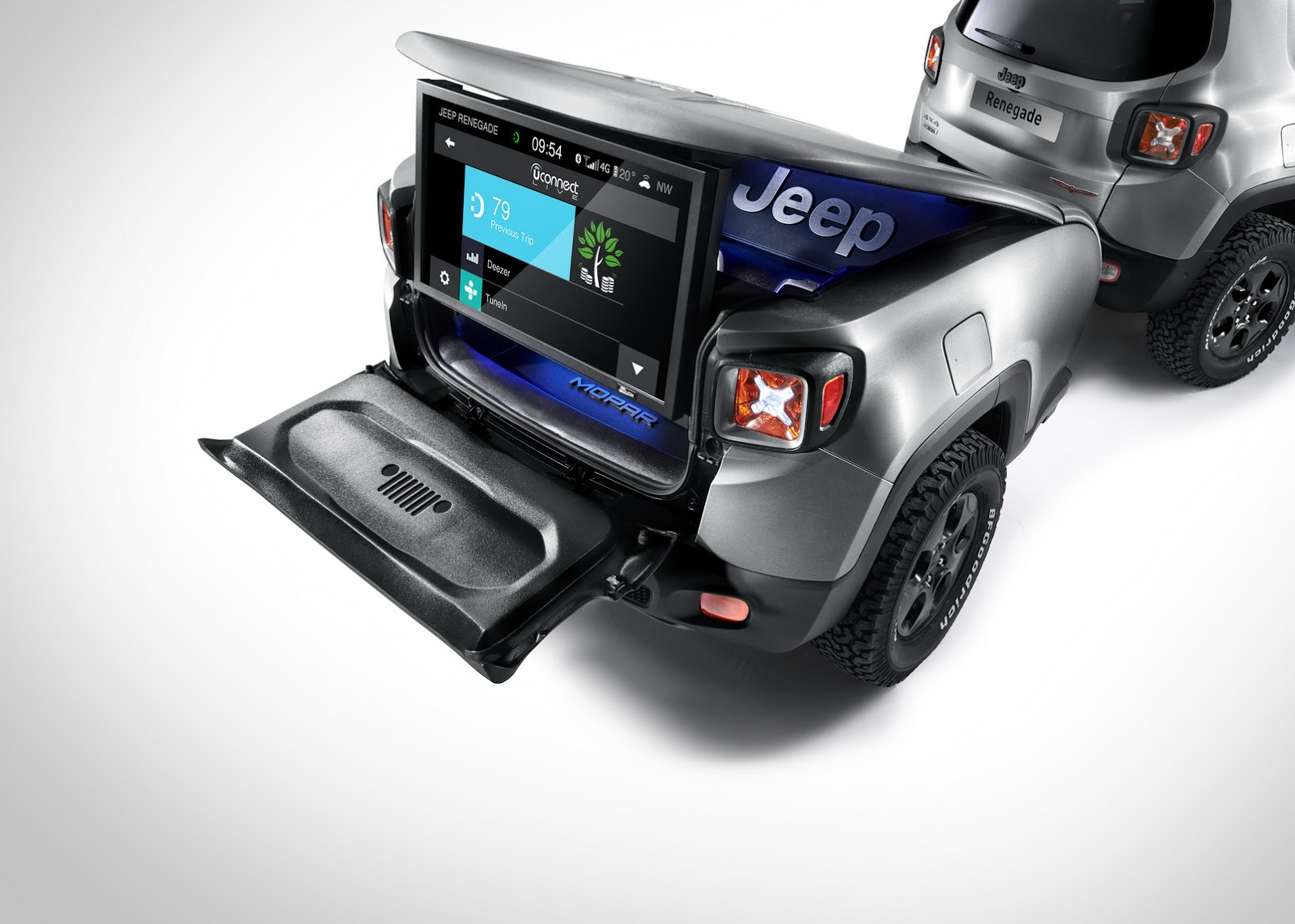 jeep renegade gets a trailer sidekick with hard steel concept for geneva carscoops. Black Bedroom Furniture Sets. Home Design Ideas