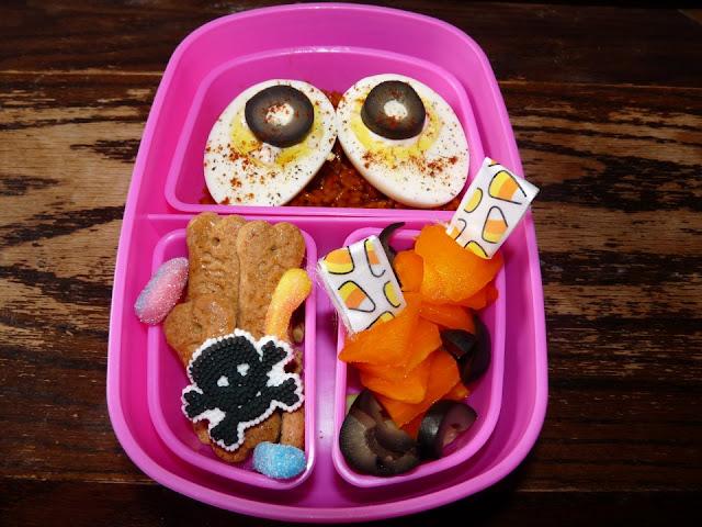 deviled eggs halloween bento