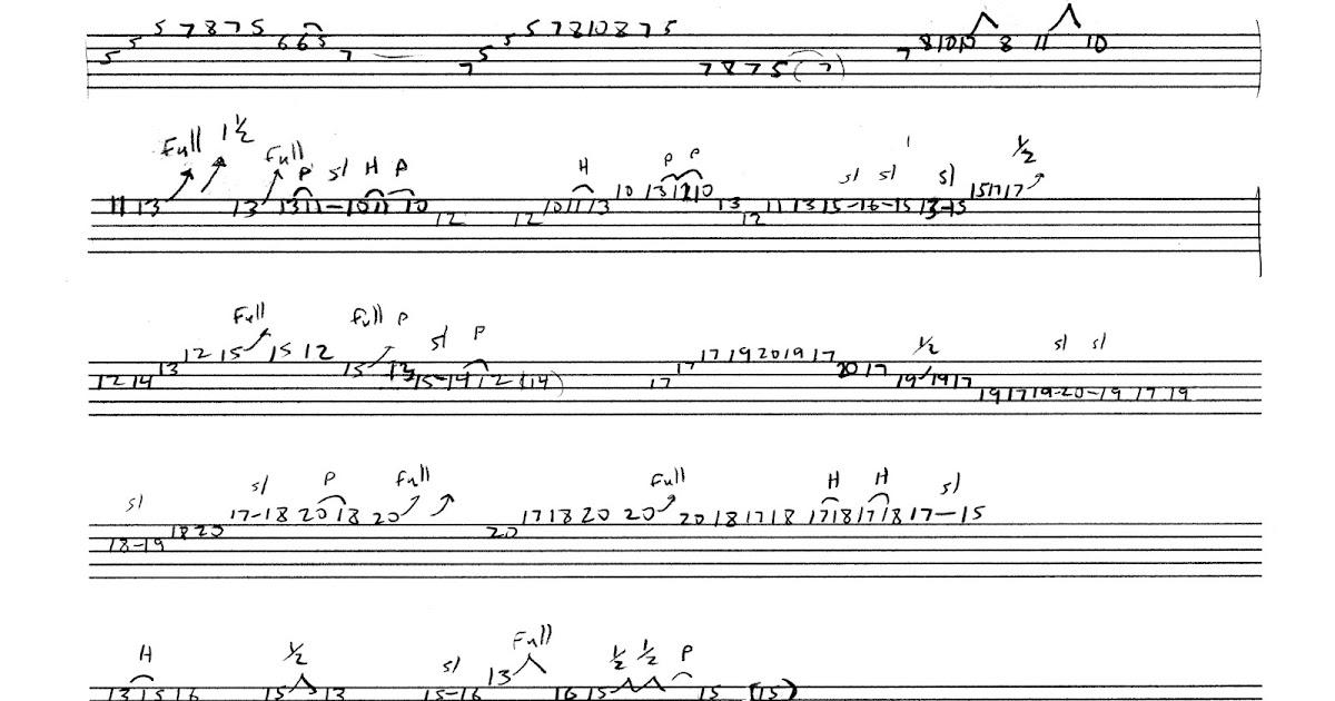 Joe Bonamassa Story Of A Quarryman Solo Wtab Six String Obsession
