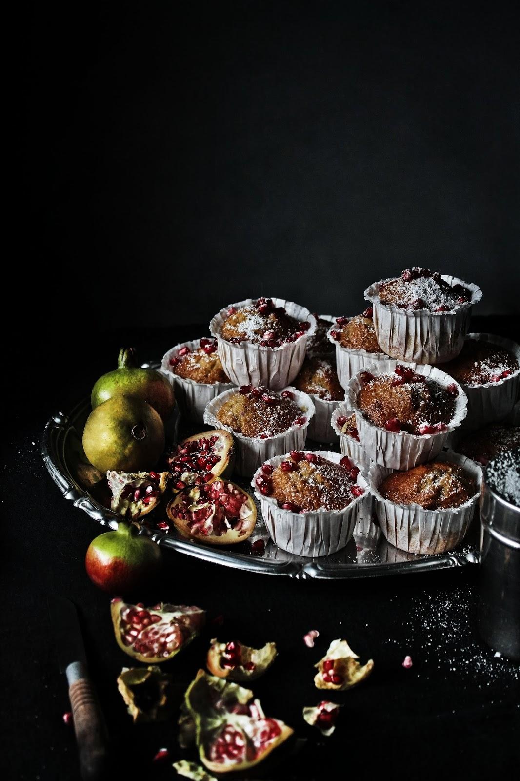 bolos de romã sem glúten   gluten free pomegranate cakes