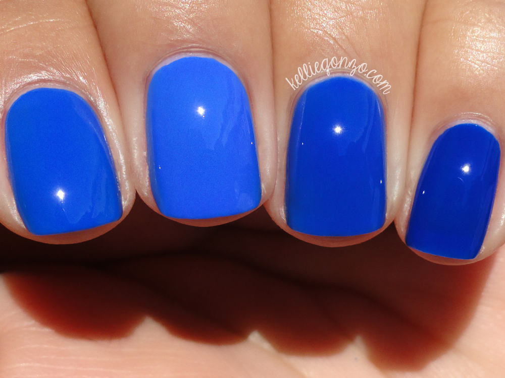 Nails Inc. Baker Street, Sally Hansen Pacific Blue (original), Rescue Beauty All About Yves, & KBShimmer Low and Be Bold