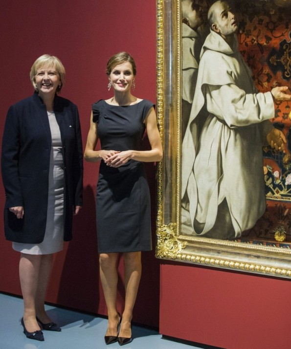 Queen Letizia Attended Opening Of Zurbaran Exhibition In Düsseldorf, Germany