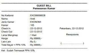 Kwitansi Penginapan | Brosur Hotel Murah - Daftar diskon hotel murah ...