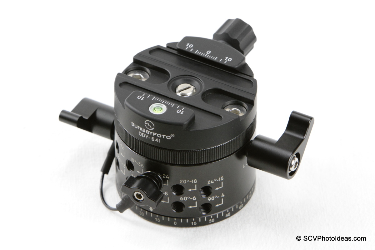 Sunwayfoto DDY-64i Discal QR clamp on DDP-64M Indexing rotator
