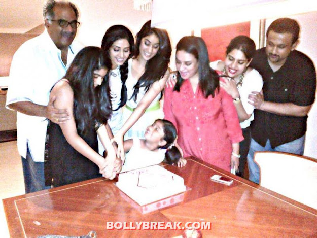 Sridevi's Twitter Pictures with Daughters & Family