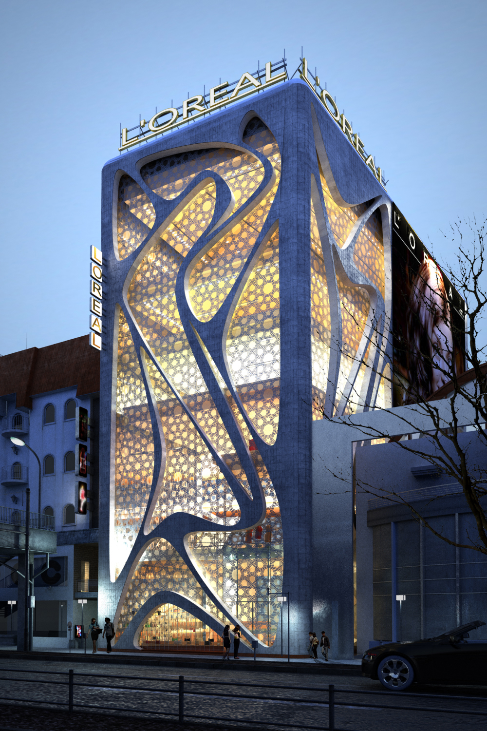 World of architecture new l 39 oreal office building by iamz for New construction design ideas