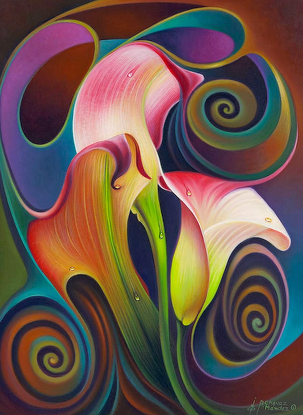 Cuadros modernos pinturas y dibujos cuadros de flores for Fotos cuadros abstractos modernos
