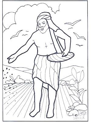 Parábola del sembrador para colorear ~ 4 Dibujo