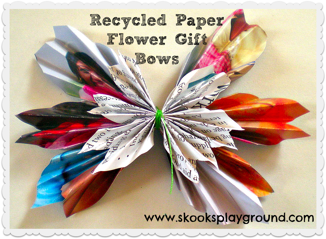 skooks u0026 39  playground     tutorial  recycled paper flower