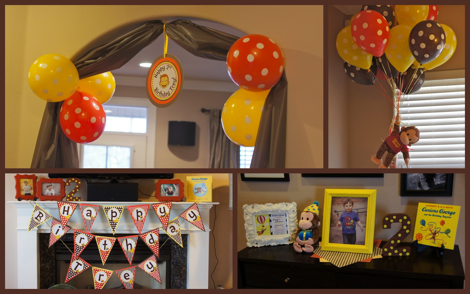 Amanda 39 s annotations trey 39 s curious george 2nd birthday for 2nd birthday party decoration