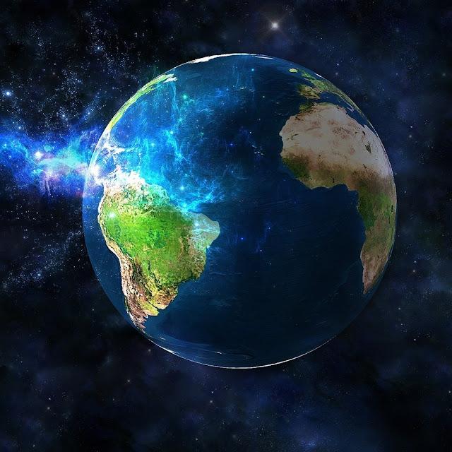 Brillante imagen de la Tierra en todo su esplendor. Ideal como fondo ...