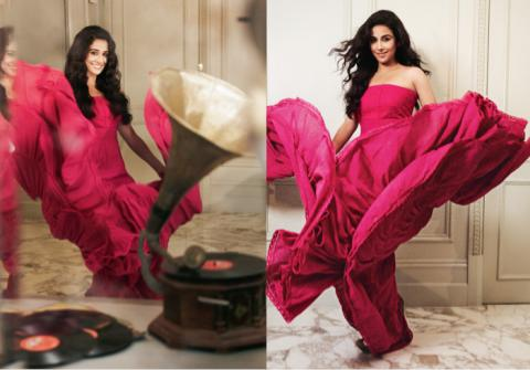 Vidya Balan Latest Hot Photoshoot Pics in Red Dress