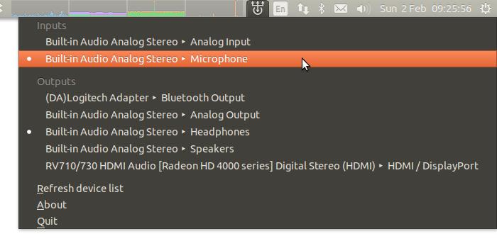 Ubuntu'da ses giriş/çıkış aygıtını değiştirmek