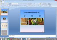 membuat hyperlink pada slide