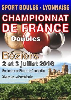 Préparez le France Doubles 2016 à Béziers