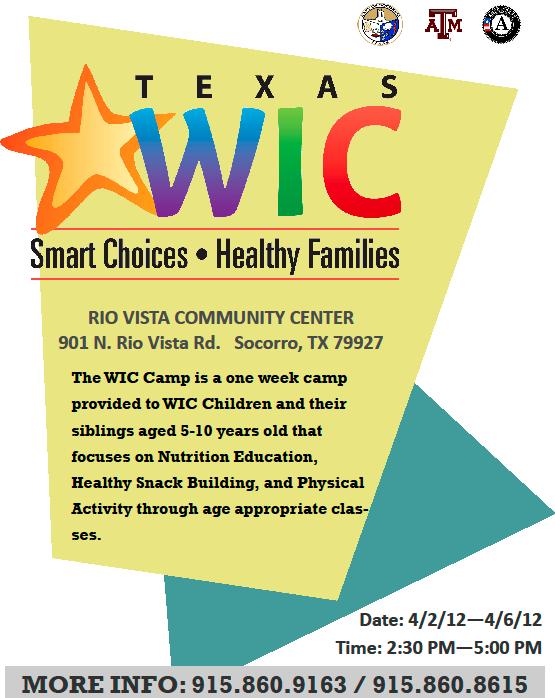 WIC Camp - Smart Choices/Healthy Families at Rio Vista ...