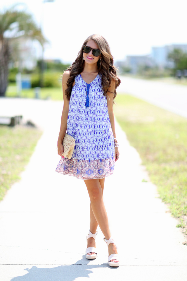 Printed trapeze dress