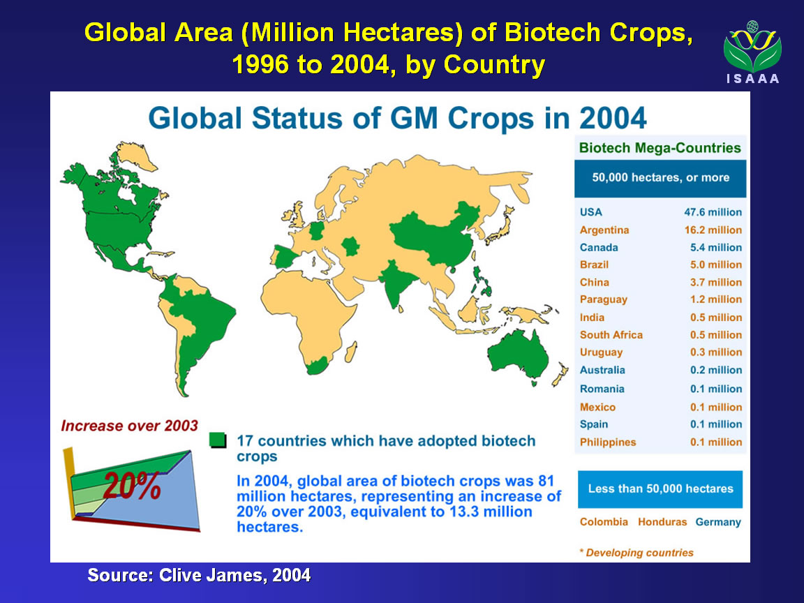 gmo crops Released new findings that show the widespread adoption of gmo crops by american farmers has resulted in a decreased use of insecticides.