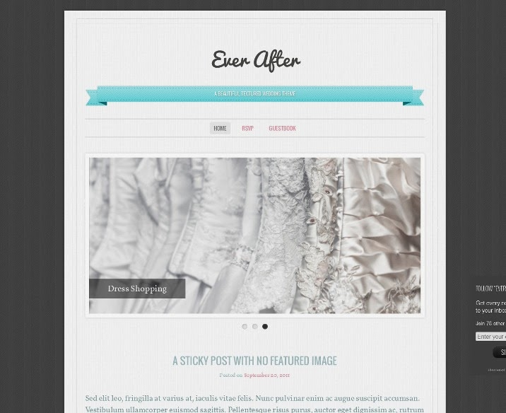 Ever After Free wedding WordPress Theme