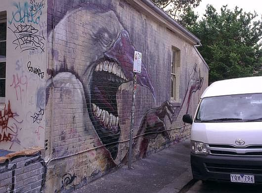 Street art in North Fitzroy