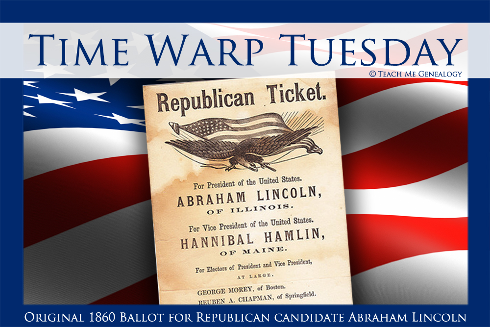 1860 Presidential Candidate Abraham Lincoln Republican ...