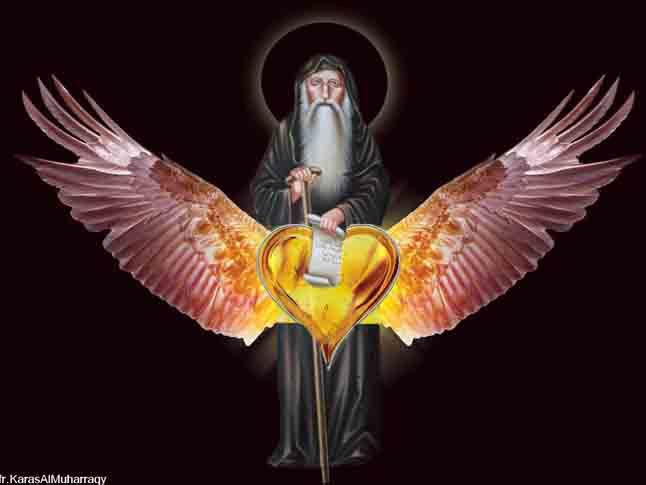 صور القديس أنبا أرسانيوس من تصميم الراهب القس كاراس المحرقي