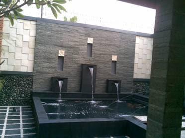 membuat kolam minimalis | kolam ko'i | air terjun
