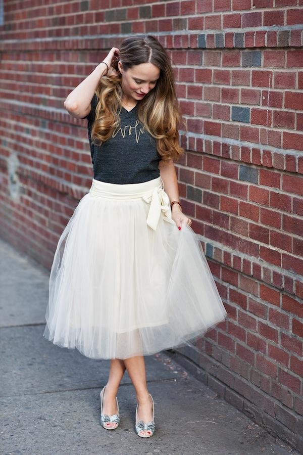 Casual Tulle Skirt Dress