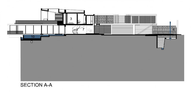 Section A-A of the villa sow