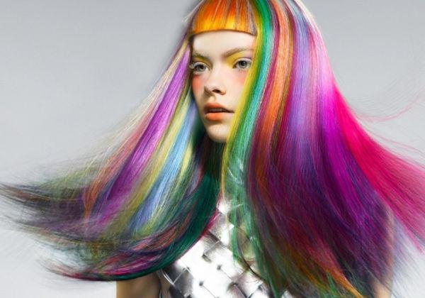 rosey-kettle rainbow hair