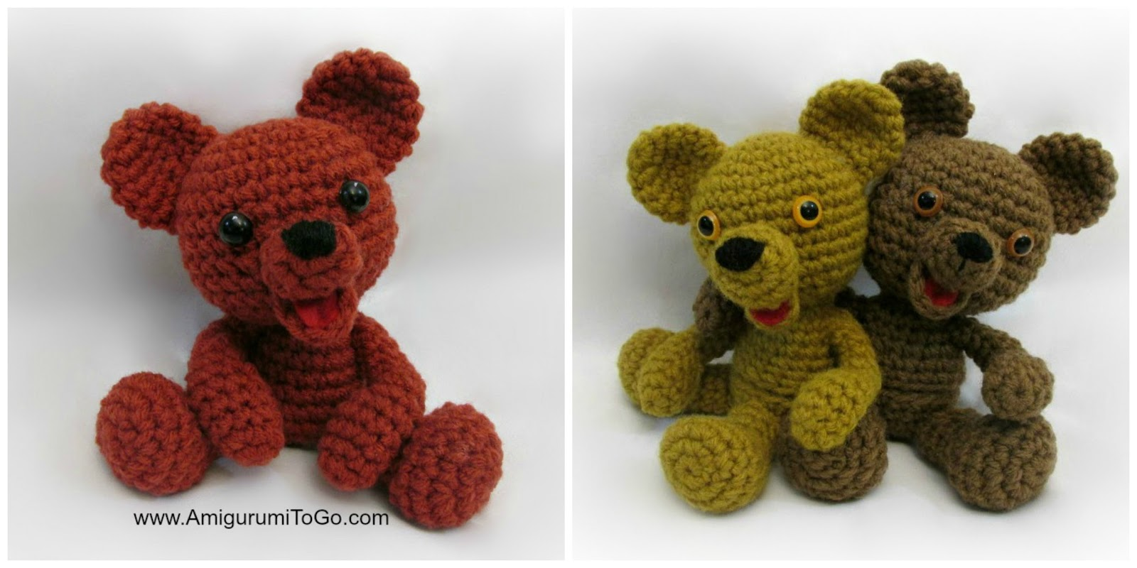 Crochet Amigurumi Bear Ears : Browning the Bear With Egg and Without ~ Amigurumi To Go