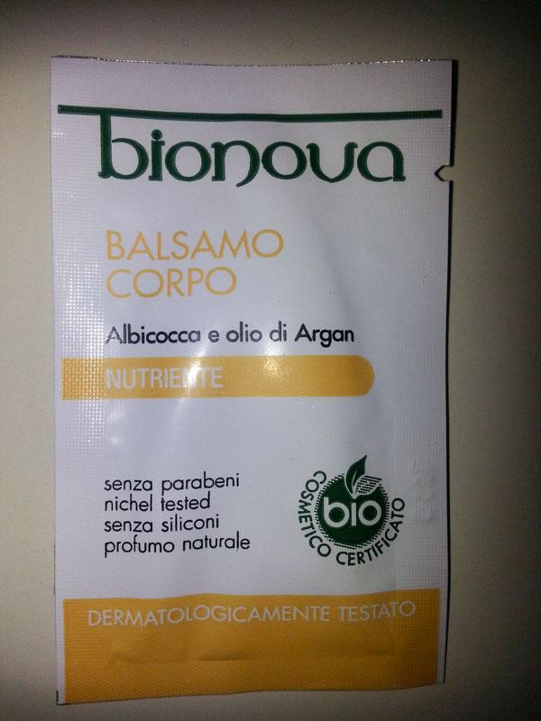 Bionova - Balsamo corpo all'albicocca e olio di argan