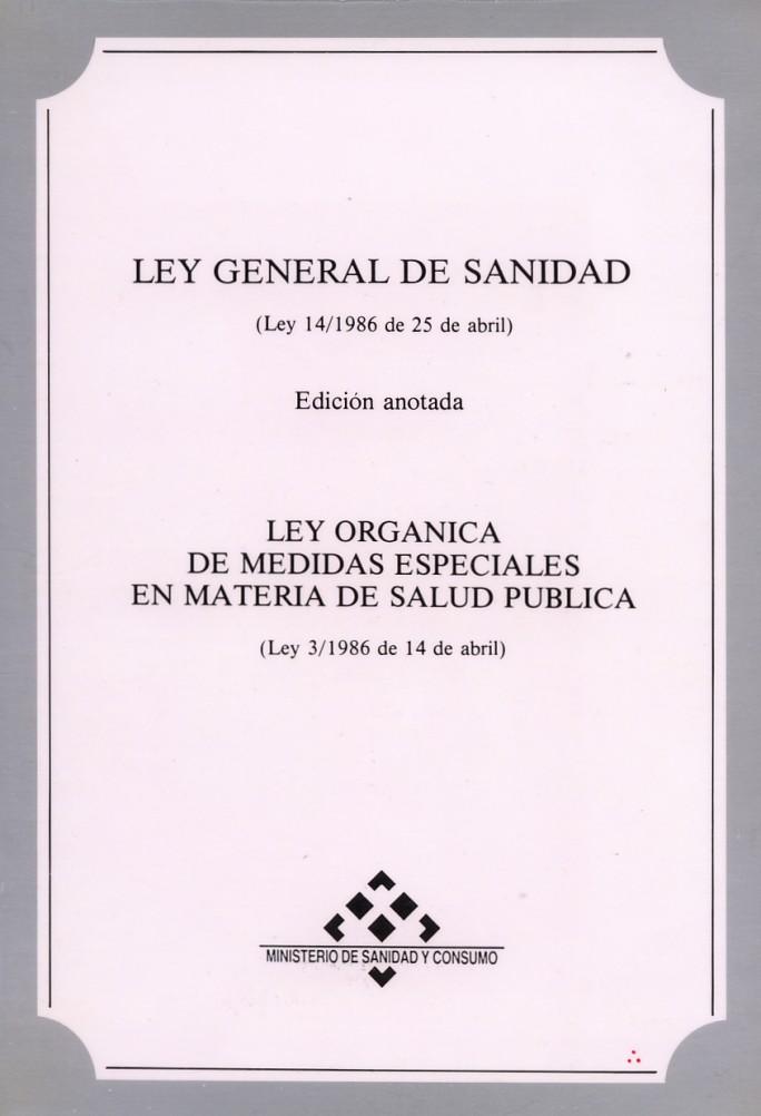 ley 14 1986 de 25 abril general de sanidad: