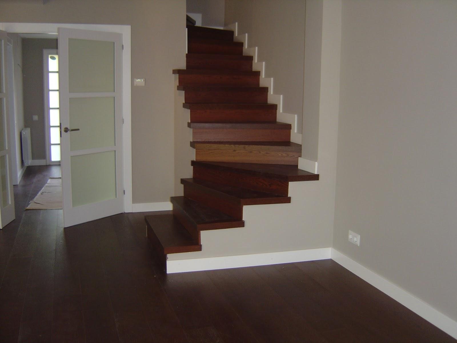 Revestir una escalera con parquet o laminado - Como forrar una escalera de madera ...